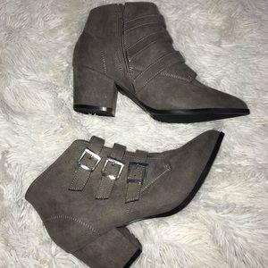 Grey/Brown Booties